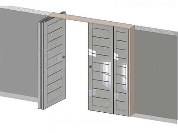 Складная дверь книжка 7X Тип1 (X) (мин. комплект)