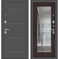 Porta S 104/П61 Антик Серебро/Wenge Veralinga венге (зеркало)