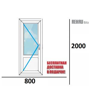 Межкомнатная пластиковая дверь REHAU 800 х 2000