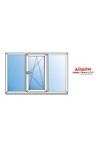 Окно в зал REHAU 1800х1600